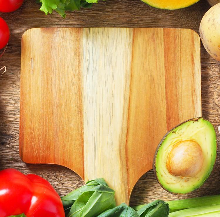 まな板と野菜スマホ